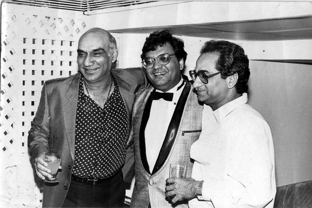 Film Director Yash Chopra, Subhash Ghai and Ramesh Sippy. Express archive photo