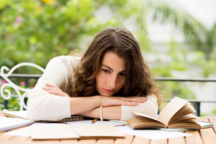 Young female writer suffering from lack of inspiration